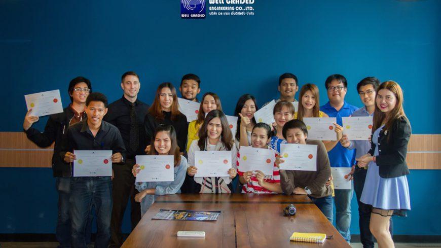 มอบ Certificate หลักสูตรภาษาอังกฤษ